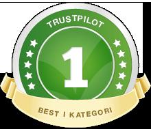 """Radiobutikken er """"best i kategorien"""" hos TrustPilot. Vi er stolte av kundenes omtale av oss."""