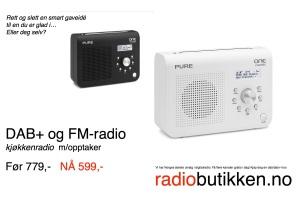 Norges beste pris på en lekker kjøkkenradio med opptaksfunksjon, dab, dab+ og FM.