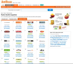 Radiobutikken toppers Kelkoos liste over radiobutikker i desember. Det er gøy!