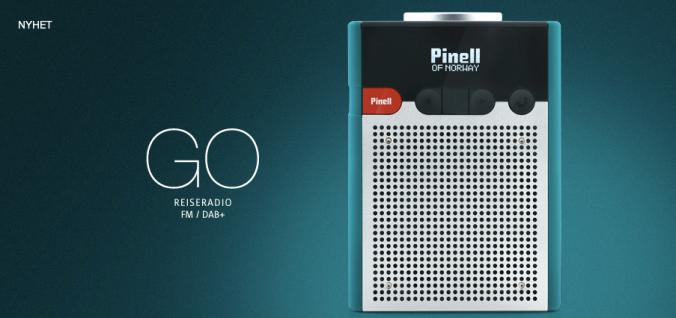 Pinell Go har dab, dab+, fm og oppladbart batteri. Kun 1749,- (klikk på bildet)