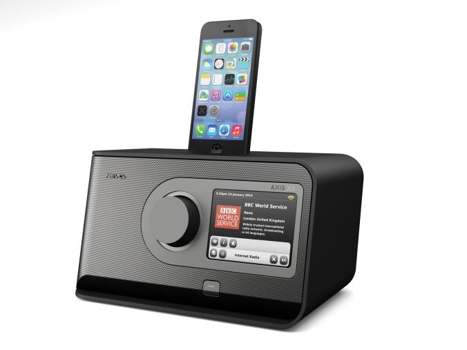 """Radioen som har """"alt"""". Inklusive docking for iPhone 5."""