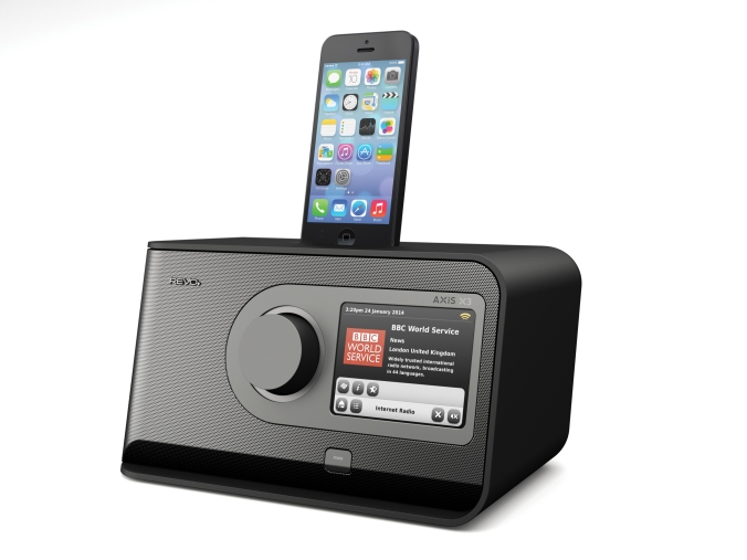 "Radioen som har ""alt"". Inklusive docking for iPhone 5."