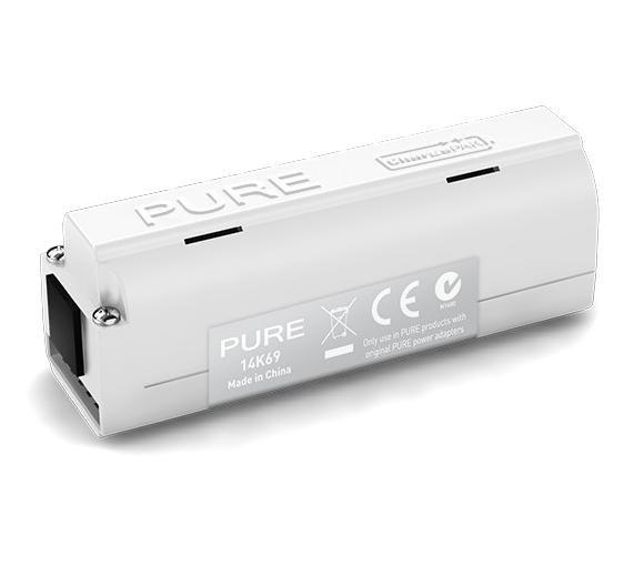 En av flere oppladbare batteripakker fra PURE.