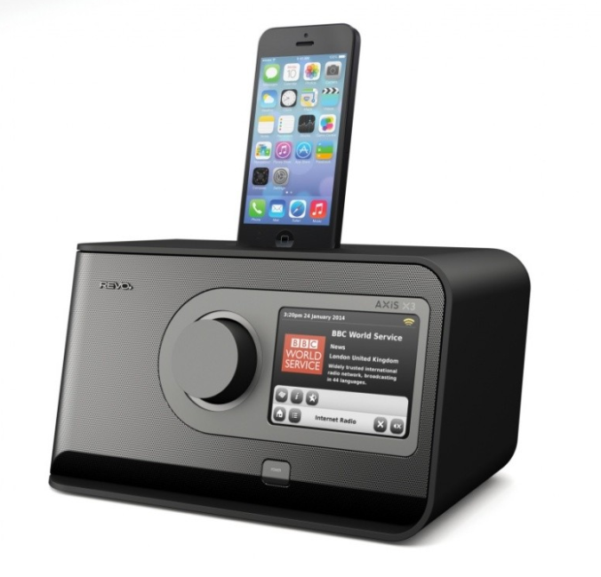 Hele radioverden i ett apparat. Pluss docking for iPhone 5/5S/C