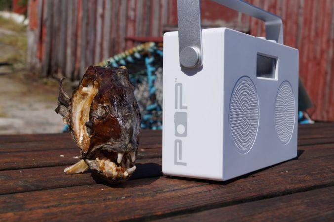 POPduo har dab, dab+, fm og bluetooth. Kjekt håndtak og batterikammer. Knallfin radio!