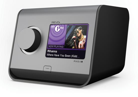 Stilig dab+, internettradio, klokkeradio med farge touchskjerm med slideshow.