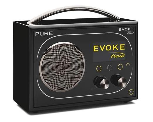 Med Pure Evoke Flow får du inn radioakanaler fra hele verden. Dab, dab+, fm, internettradio og streaming av ditt eget musikkbibliotek.