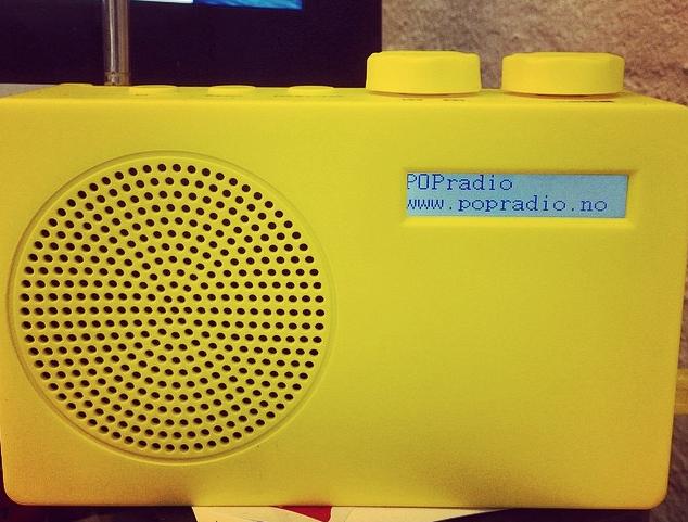 POPradio. Dab, dab+, fm. Kun 499,-  7 farger. Egen radiostasjon følger med!