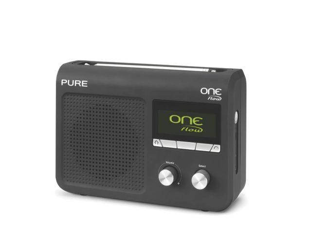 Pure One Flow har både dab, dab+, fm og internettradio.