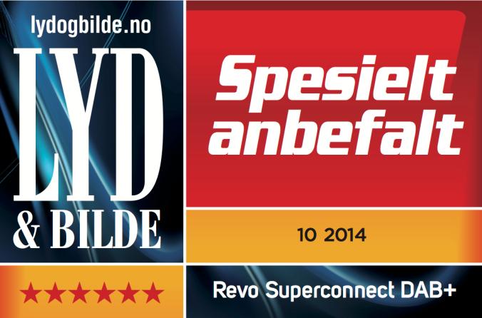 """REVO SuperConnect har fått 6 av 6 stjerner og """"Spesielt Anbefalt"""" i Lyd og Bilde"""