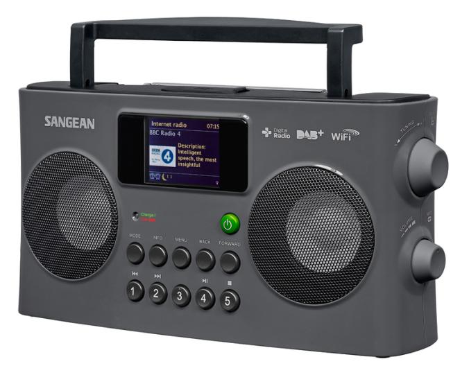 En lekker stereoradio med dab, internettradio og fargeskjerm.