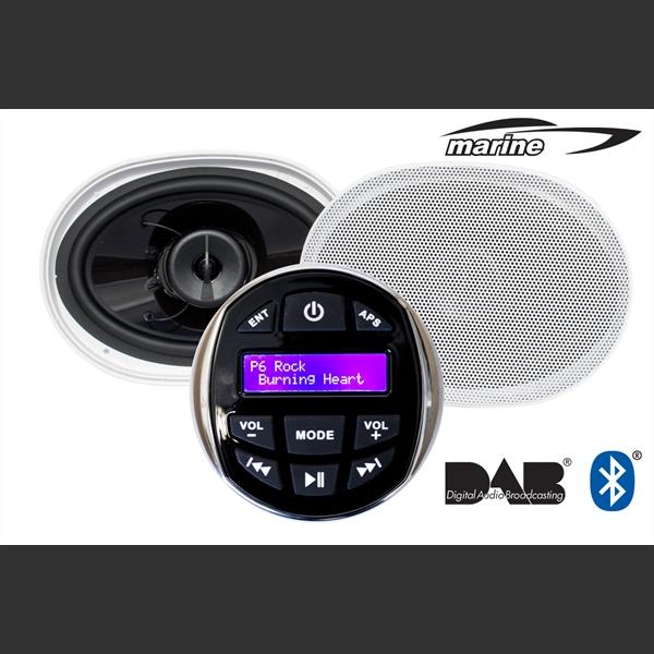 Marine Stereo DAB  pakke med høyttalere1419261682
