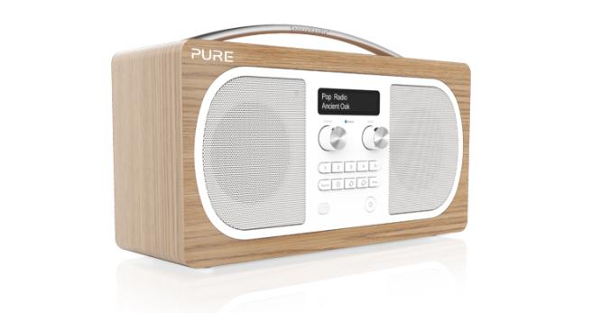 Nytt og lekkert utseende på en radio som kan gi deg lyd fra hele verden via bluetooth.