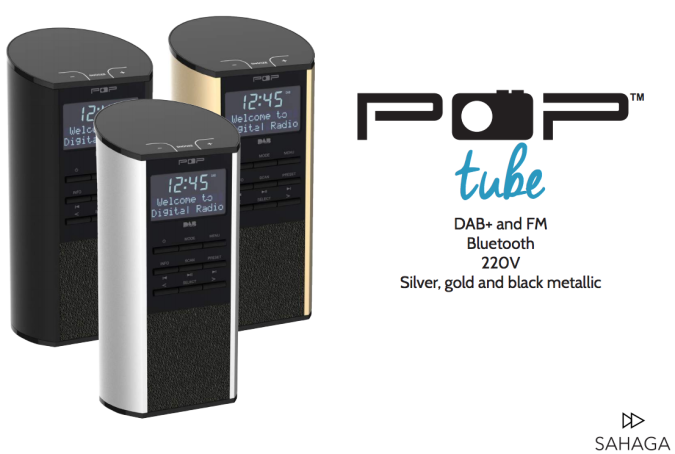 Bordradio med dab+, fm, bluetooth og linjeinngang