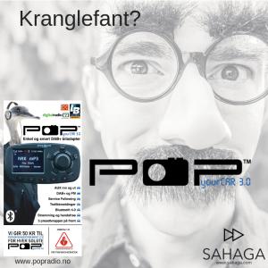 adapter med dab+ og fm trafikksikker radio