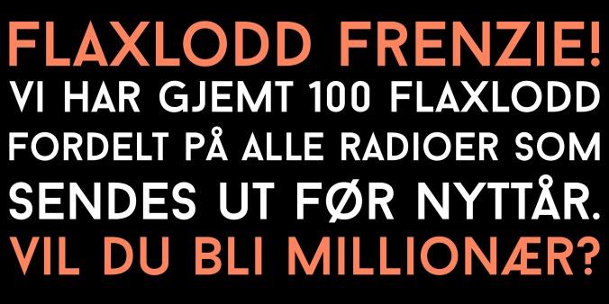 tilfeldige radioer selges med flaxlodd