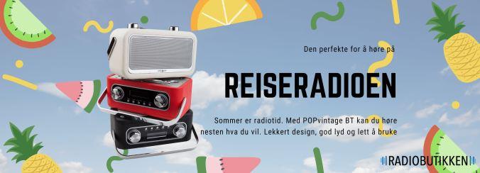 POPvintageBT radio med dab+, fm og bluetooth