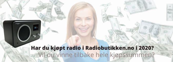 Du kan vinne tilbake pengene du bruker i Radiobutikken.no